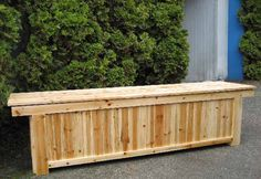Charmant Wooden Outdoor Storage Bench Ricky Can Make To Go On The Deck And I Can Have