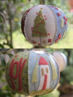 Joyful Xmas Bauble | Hatched and Patched