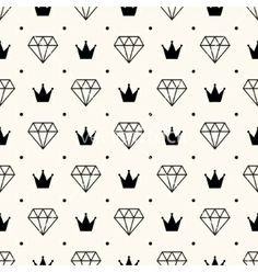 Seamless retro pattern with diamonds vector. Royal  by svetolk on VectorStock®