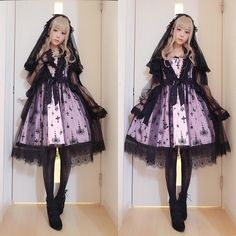 Gothi Lolita Fashion / Cute Dress / Headband / Kawaii Japanese Fashion Photography / Harajuku / Kiyohari / Cosplay  // ♥ More @lDarkWonderland