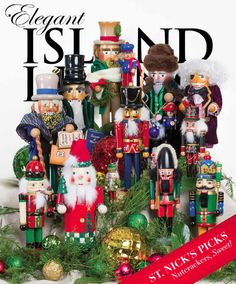 December 2015: Members of St. Simons Island resident Sandy Storino's extensive nutcracker collection provide the holiday flair we sought for the December cover. Photography by Joe Loehle, Loehle Photography.