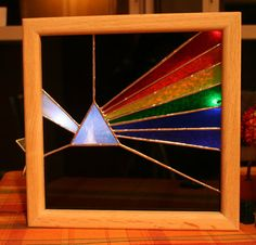Pink Floyd Dark Side of the Moon Stained Glass Light by Imakeglass. $100.00, via Etsy.