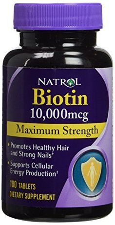 Natrol Biotin supports healthy luxurious hair, beautiful skin, and strong nails, in addition to energy production. A water-soluble B-complex vitamin, biotin is necessary for cell growth and the production and metabolism of fat into amino acids. Healthy Tips, Healthy Hair, Ongles Forts, Vitamins For Hair Loss, Reduce Hair Fall, Biotin Hair, Strong Nails, Nutritional Supplements, Vitamins