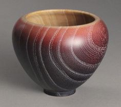 Ash vase, dyed with multiple colors, finished with liming wax and buffed. Wooden Words, Wooden Art, Liming Wax, Woodturning Ideas, Bowl Turning, Wood Turning Projects, Wood Lathe, Wood Bowls, Wood Crafts