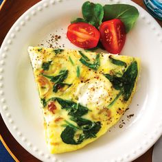 Ricotta & Spinach Frittata - Clean Eating - Clean Eating