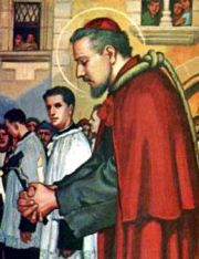 St. Charles Borromeo was a member of a noble family and a nephew of Pope Pius IV. He was made a Cardinal at the age of 23 and assisted the Pope in administering the affairs of the Holy See and in governing the Church. Soon thereafter he was made Archbishop of Milan. His endeavors on behalf of the 19th Ecumenical Council of Trent (1545-1564) were especially meritorious and fruitful. He helped to direct and guide it and bring it to a successful conclusion. He then proceeded to enforce its…