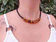 Natural amber macrame necklace / mexican red amber bead | Etsy Love Bracelets, Bangle Bracelets, Bangles, Macrame Necklace, Amber Necklace, I Love Mexico, Nativity Crafts, Amber Beads, Boho Rings