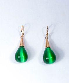 Oorbellen met groene toermalijn €175,00 | MPM Jewelry by Pilar Montes #groen #green #greenjewellery #greenjewels #sieraden #oorbellen #toermalijn