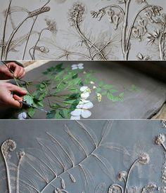 Basteln-Ideen-mit-Gips---Blumen-Fossile-als-originelle-Geschenkidee-und-DIY-Deko