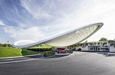 Volkswagen's Autostadt Gets a Suspended Leaf-Shaped Roof | Inhabitat - Sustainable Design Innovation, Eco Architecture, Green Building