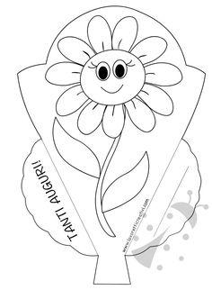 Biglietti di auguri per la Festa dei Nonni con fiore Cute Kids Crafts, Learn Arabic Alphabet, Family Tree Frame, Primitive Doll Patterns, Tiger Love, Tracing Letters, Kindergarten Writing, Mom Day, Baby Knitting Patterns