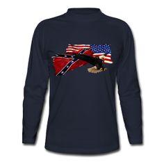 Patriotism US Flags & Bald Eagle  long sleeved shirt