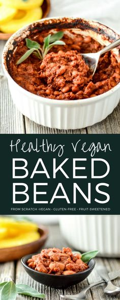 These Healthy Vegan Baked Beans with Pineapple are the perfect side dish for your summer BBQ. They are gluten-free and refined sugar free! Kid friendly and husband approved! #vegan #bakedbeans #healthyrecipe #bbq #side dish via @joyfoodsunshine