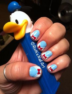 Donald Duck Nails #disney #nailart #ruthsnailart