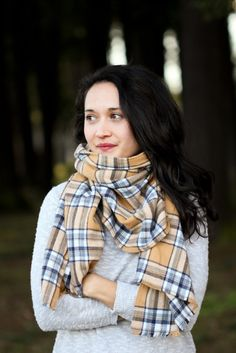 Flannel Scarves: Made with a rich, luxe flannel shirt, these are simple to sew but are sure to impress. (via Delia Creates) - 75 Easy Sewing Projects You Should Try via Brit + Co.