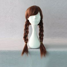 Fashion Cosplay Frozen-Anna Long Brown Weave Lolita Party Synthetic Hair Wigs