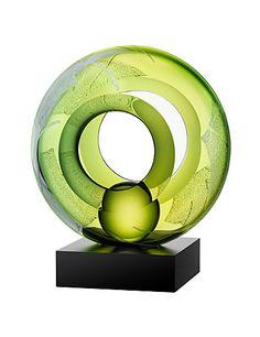 Kosta Boda Meditation Sculpture, Green