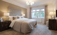 Show home room by room - The Cambridge, Bisley Bedroom Apartment, Home Bedroom, Bedroom Ideas, Redrow Homes, Rustic Bathroom Designs, White Bathroom, Luxurious Bedrooms, House Rooms, Flat Design