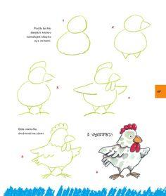 Kniha: Nauč sa kresliť zvieratká a postavičky (Rosa M. Step By Step Drawing, Stones, Tutorials, Kawaii, Drawings, Painting Art, Rocks, Sketches, Drawing