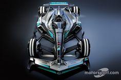 No próximo ano, a F1 passará por uma revolução no design de seus carros, sendo mais rápidos e com pneus mais largos. Olhando para o futuro, o que pode acontecer daqui a 15 anos? Na primeira parte de nossa série, vamos observar as linhas da Mercedes: