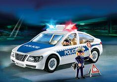 Voiture de police avec lumières clignotantes - PM France PLAYMOBIL® France