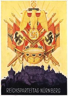 Germany, Reich Party Day Propaganda, 1936 Showing Flags Over Nuremberg.