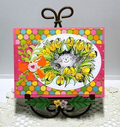 Bright & Cheerful Colors - Tulips & Kitty- PBSC by kraftyaunt - Cards and Paper Crafts at Splitcoaststampers