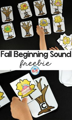 Fall Initial Sound Match-Up Free Printable is the perfect addition to your literacy centers this fall. This hands-on activity is perfect for preschool, kindergarten, and first grade students.