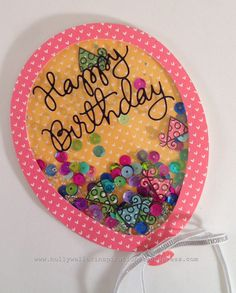Hello, Happy Thursday,  I have a balloon shaped birthday card to share today. I made this card for a co-worker's birthday. I screams party. Here is the party card! This card is you standar…