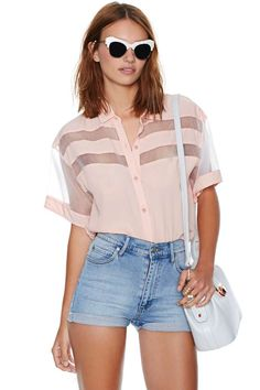 Such A Peach Blouse