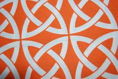 Lattice Link Bright Orange Tangerine Geometric Famous Maker Outdoor Fabric SALE! $12.00 Per Yard!  OSS100-C