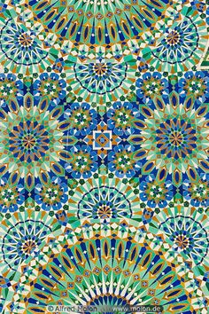 Islamic pattern mosaic-when the focus is on vegetal and geometric designs rather…