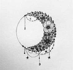 Image result for image sketch moon and stars
