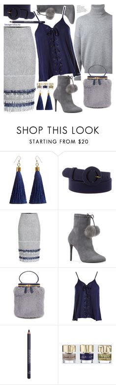 """""""Офис - новый взгляд"""" by lyusilgrig ❤ liked on Polyvore featuring Prada, Roland Mouret, Michael Kors, Milma, Sans Souci, MAKE UP FOR EVER and Smith & Cult"""