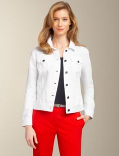Talbots - White Denim Jacket | Jackets and Outerwear | Misses