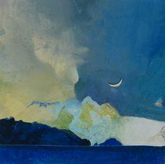 New Moon, painting by artist Randall David Tipton