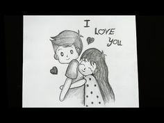 Drawings Of Love Couples, Drawings For Him, Cute Drawings Of Love, Drawings For Boyfriend, Easy Cartoon Drawings, Cartoon Sketches, Mini Drawings, Disney Drawings, Pencil Drawings