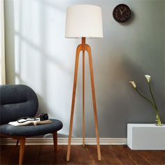 Blackhall Woodworks, LLC is a collaborative effort between two brothers, Matt and Josh Bender, dedicated to producing handcrafted furniture of outstanding quality with natural materials and simple forms. Danish Modern, Mid-century Modern, Modern Floor Lamps, Mid Century Modern Furniture, Tripod Lamp, Woodworking, Simple, Home Decor, Decoration Home