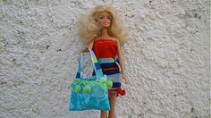 KajDom / Modrá kabelka pre Barbie Barbie, Strapless Dress, Handmade, Dresses, Fashion, Strapless Gown, Vestidos, Moda, Hand Made