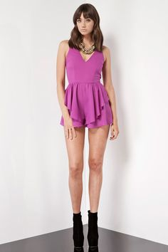 a0234304d85 Keepsake hearts string playsuit magenta Colour Pop