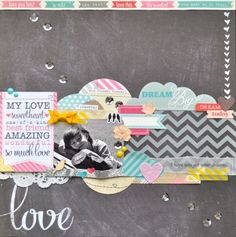 I hope you get your dreams! :: Elle's Studio by carolpxto. Lovely pairing of You and Me collection papers and embellishments.