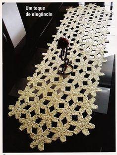 Solountip.com: Bonito camino de Mesa a crochet