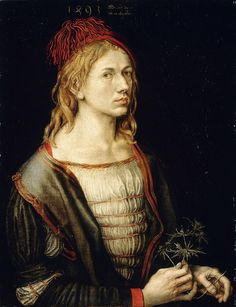 Albrecht Dürer - Portrait of the Artist Holding a Thistle [1493] | Flickr - Photo Sharing!