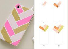 Handyhülle mit Washi Tape dekorieren - interessantes Muster