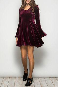 Ya Los Angeles Velvet Party Dress