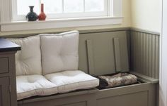 lots of windowseat/banquette advice from TOH //Build in Storage: Hinged Top