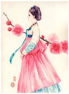 korean traditional dress drawing - Google Search