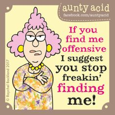 Aunty Acid for 7/9/2017