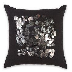 45x45cm Centre Sequin cushion Black