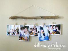 driftwood photo hanger.